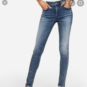 Express High Waisted Denim Perfect Skinny Jeans